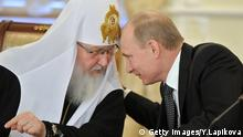 Vladimir Putin and Patriarch Kirill (Getty Images/Y.Lapikova)