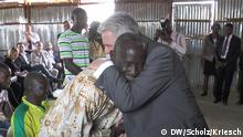 Herzlicher Empfang für den Bundespräsidenten im Flüchtlingslager