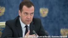 Markige Worte: Russlands Regierungschef Medwedew