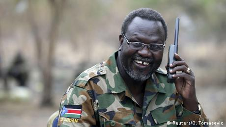 South Sudanese rebel leader Riek Machar
