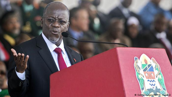 Tanzania, President John Magufuli at his swearing-in ceremony © Getty Images/AFP/D. Hayduk