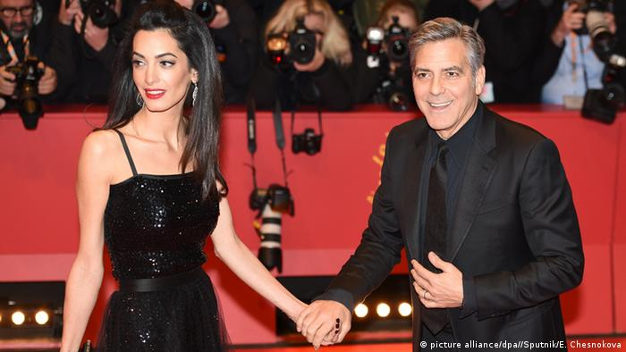 Deutschland Berlinale 2016 George und Amal Clooney (picture alliance/dpa//Sputnik/E. Chesnokova)