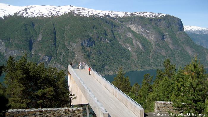 Aussichtsplattform am Aurlandsvegen