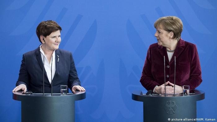 Berlin PK Angela Merkel Beata Szydlo