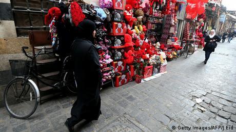 Valentinstag Syrien Damaskus