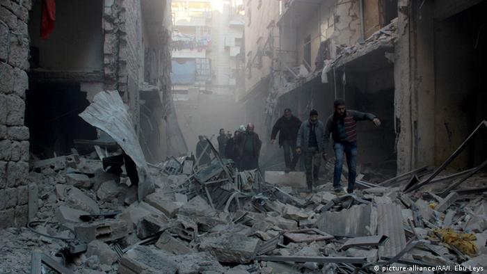 Syrien Aleppo Ruinen nach Bombardement Flüchtlinge