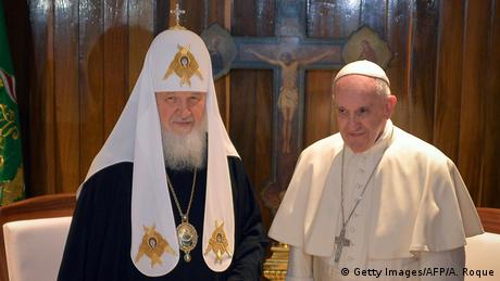 Patriarch Kirill und Papst Franziskus Kuba (Getty Images/AFP/A. Roque)