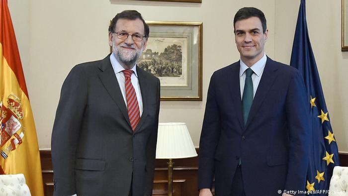 Mariano Rajoy Pedro Sanchez Treffen Spanien Madrid