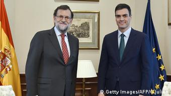 Mariano Rajoy Pedro Sanchez Treffen Spanien Madrid (Getty Images/AFP/G.Julien)