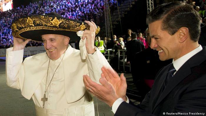 Mexiko Papst Franziskus & Präsident Enrique Pena Nieto
