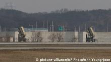 Patriot-Raketen auf dem US-Luftwaffenstützpunkt Osan im südkoreanischen Pyeongtaek (Archivbild)