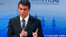 Manuel Valls, primer ministro francés, durante su intervención en la Conferencia de Seguridad de Múnich.