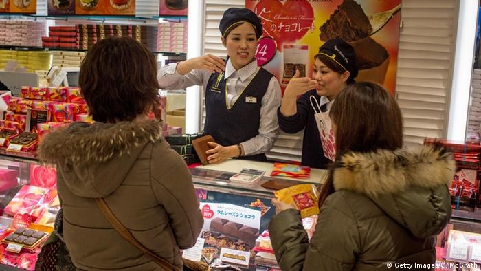 Japan Valentinstag Shopping Schokolade (Getty Images/C. McGrath)