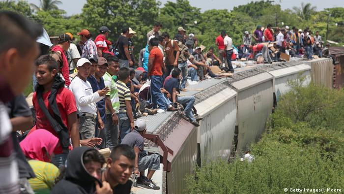 Mexiko Migranten Zug USA