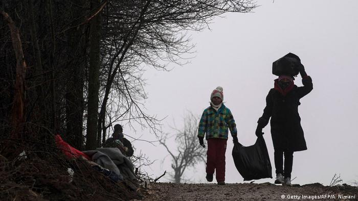 Serbien Flüchtlinge Balkan-Route (Getty Images/AFP/A. Nimani)