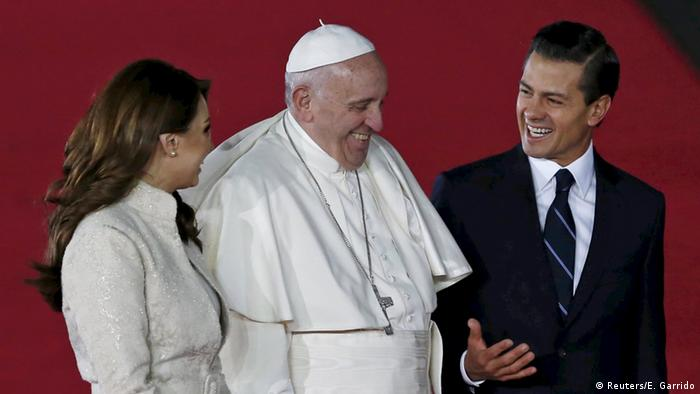 Pope Francis with Enrique Pena Nieto