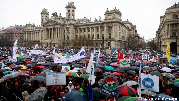 Ungarn Budapest Protest Regierung