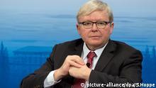picture-alliance/dpa/S.Hoppe Der ehemalige Premierminister von Australien, Kevin Rudd, spricht am 13.02.2016 während der 52. Sicherheitskonferenz in München (Bayern). Die 52. Sicherheitskonferenz dauert bis zum 14.02.2016. Foto: Sven Hoppe/dpa +++(c) dpa - Bildfunk+++