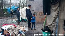 Wenig erfreuliche Zustände in einem Flüchtlingscamp im französischen Dunkerque