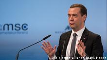 Russlands Ministerpräsident Dmitri Medwedew