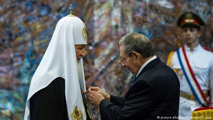 Kuba Präsident Raul Castro und Kirill