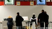 Check-in-Schalter der Iraqi Airways im Berliner Flughafen Tegel