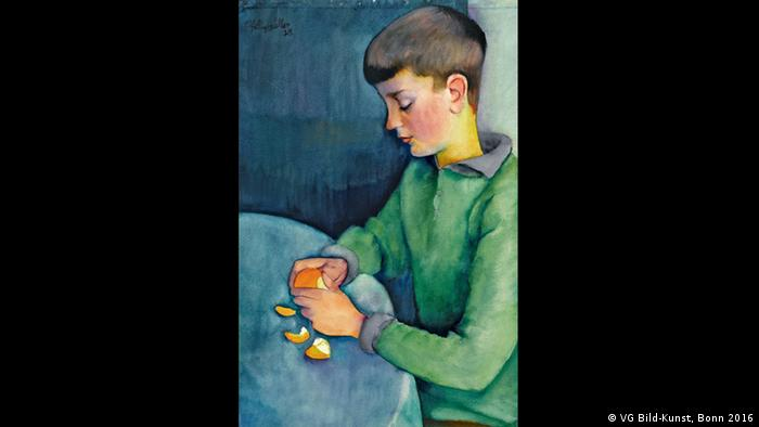 Конрад Феликсмюллер (Conrad Felixmüller), Апельсин (Die Apfelsine), 1929