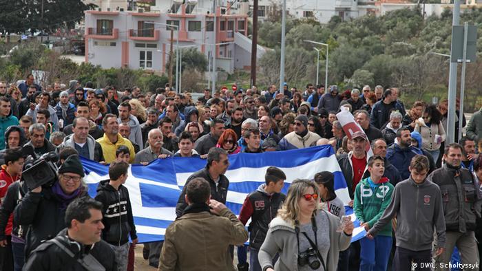 Griechenland Proteste vor dem geplanten Flüchtlings-Hotspot auf Kos