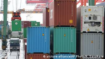 Containerhafen in Tokio (Foto: AP Photo/Koji Sasahara)