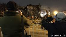 Russland Abriss eines Einkaufszentrums in Moskau