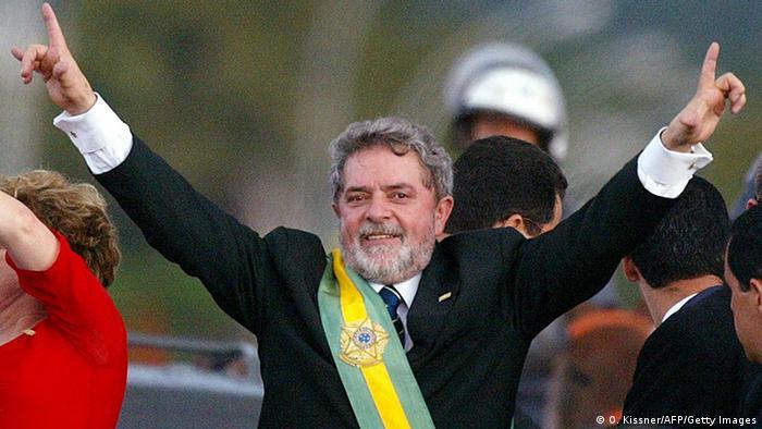 Лула да Силва на церемонии инаугурации