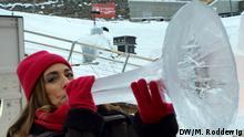 Norwegen Sarah Willis beim Ice Music Festival in Geilo