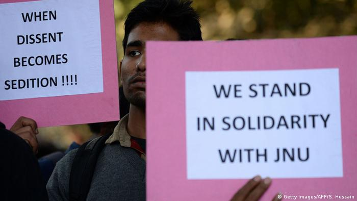 Indien Studentenproteste in Neu Delhi