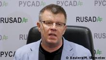 10.11.2015 **** Head of the Russian Anti-Doping Agency Nikita Kamayev speaks during a news conference in Moscow, Russia, in this November 10, 2015 file photo. The former executive director of Russia's anti-doping agency (RUSADA) Nikita Kamayev has died two months after resigning his post, the Tass news agency reported on February 14, 2016. REUTERS/Maxim Shemetov/Files © Reuters/M. Shemetov