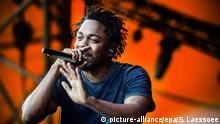 USA Kendrick Lamar Rapper (picture-alliance/epa/S. Laessoee)