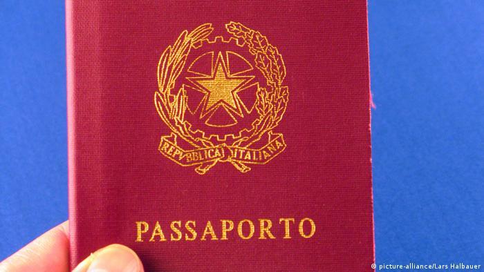 A indústria do passaporte italiano
