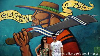 Kuba Tourismus Graffiti
