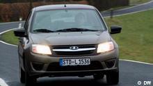 Rechte: Eigendreh Sendung; DW News Russisch (DW Новости) Test drive Lada Granta