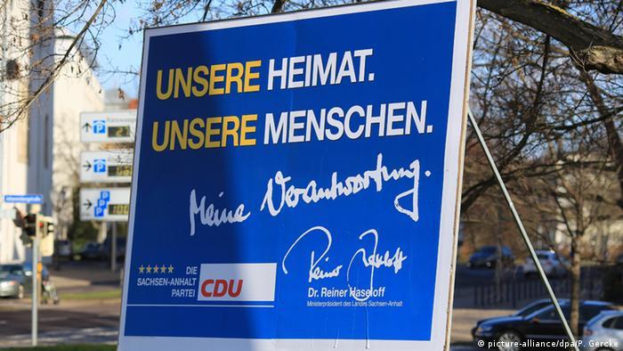 Deutschland Sachsen-Anhalt Wahlplakat CDU