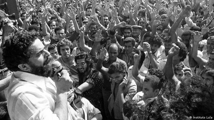 Лула да Силва на митинге