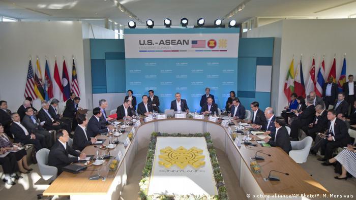 Präsident Barack Obama spricht im Plenum Treffen der ASEAN