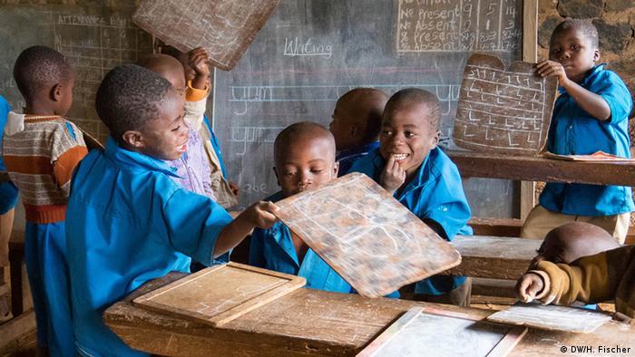 Children in a school in Cameroon