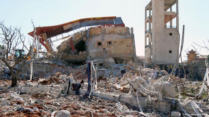 Больница в провинции Идлиб после авиаудара
