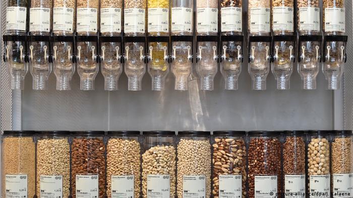 Deutschland Supermarkt ohne Verpackungsmüll