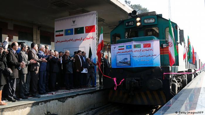 15 февраля 2016 года железнодорожный состав из Китая через Казахстан и Турменистан впервые прибыл в Иран