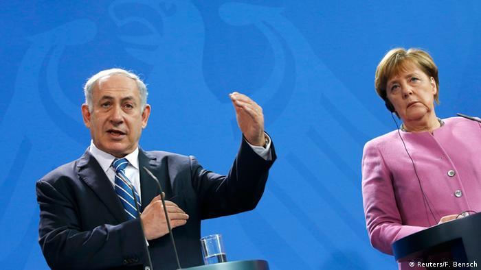 Deutschland Berlin PK Bundeskanzlerin Merkel mit Premierminister Benjamin Netanjahu