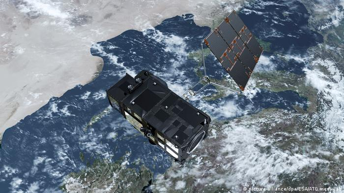 Illustration Start des Erdbeobachtungssatelliten Sentinel-3A