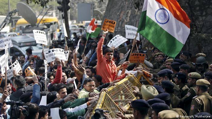Indien Proteste in Neu-Delhi