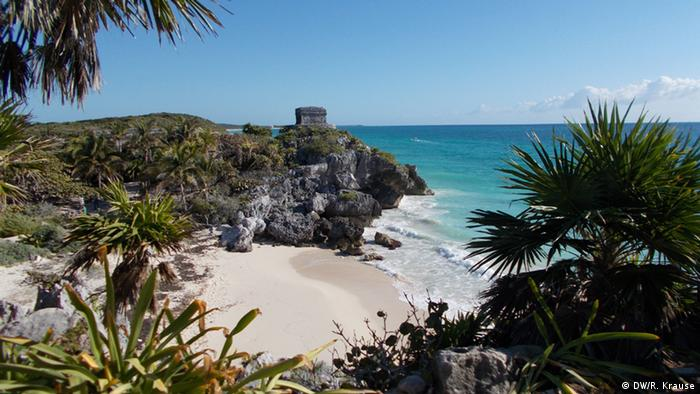 Mexico Maya Ruins and beach in Tulum, Copyright: DW/R. Krause