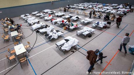 Deutschland Notunterkunft für Flüchtlinge bei Schwerin